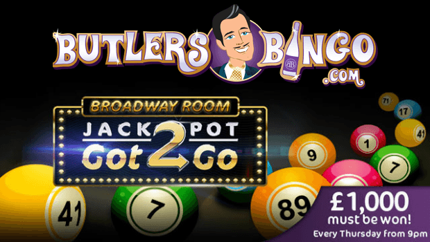 Butlers Bingo's Jackpot Got2Go Offers £1k Every Thursday