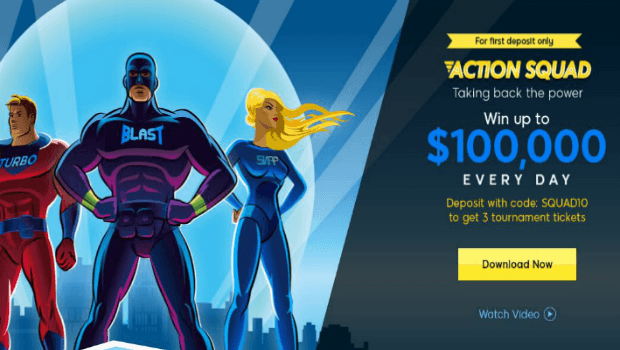 New Action Squad Tournament at 888poker Offers $100k Daily
