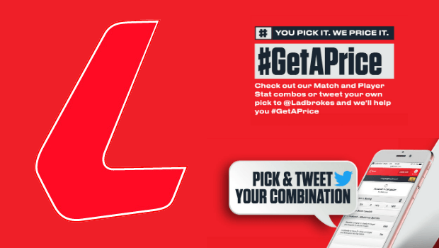 Ladbrokes' #GetAPrice Deal Offers Custom Betting Markets