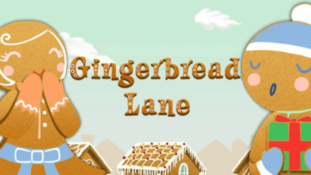 Gingerbread Lane slot logo