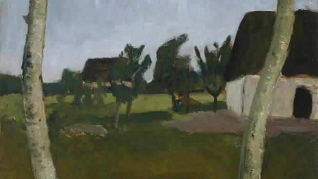 Paula Modersohn-Beckers Häuser, Birken und Mond
