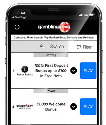 Gambling.com Bonus Comparison App