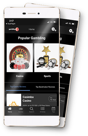 Gambling.com Bonus Comparison App search and filter