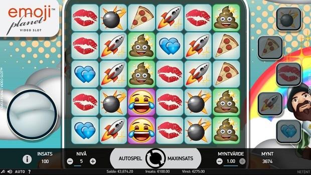 Emojiplanet spelautomat från NetEnt