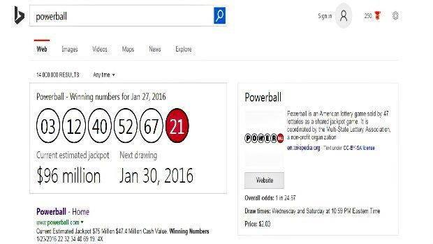 Search Engine Set to Feature Winning Lottery Numbers in Search Results