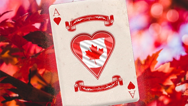 Canada playing card