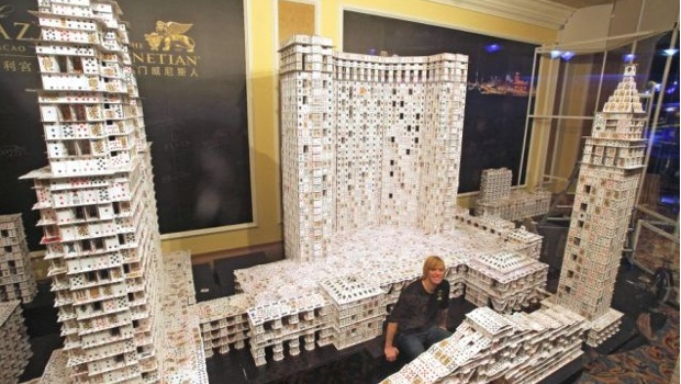 Largest house of cards ever built
