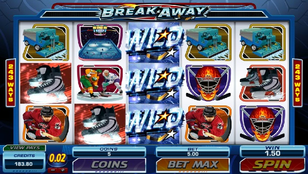 Breakaway slot machine