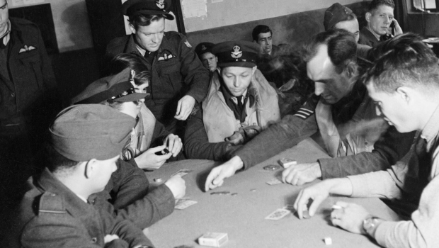 American pilots playing poker in 1942