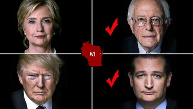 Underdogs Strike Back: Cruz and Sanders Defeat Trump and Clinton in Wisconsin Showdown