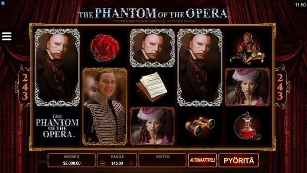 The Phantom of the Opera kolikkopeli