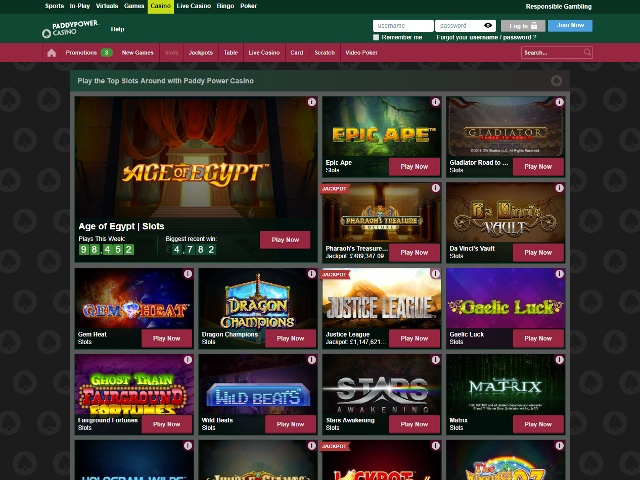 paddy power slots games