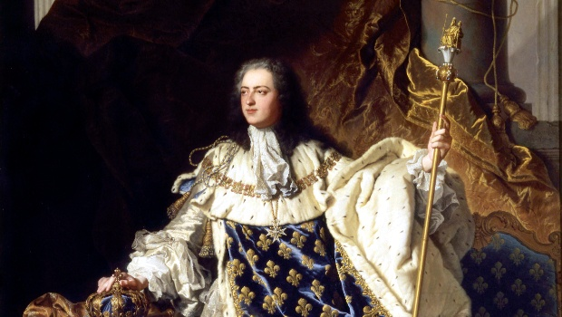 King Louis XV with spades on his outfit
