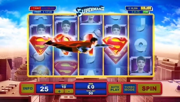 Superman II spielautomat