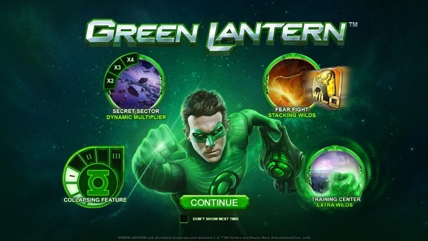 Green Lantern spielautomat