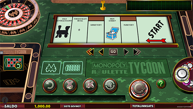 Roulette Monopoly Tycoon casinospill