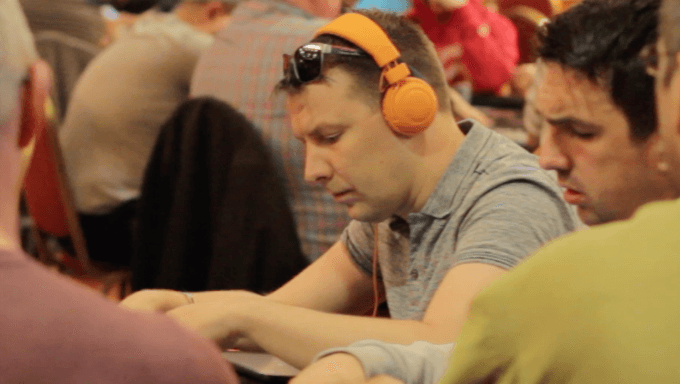 Player at PokerStars Megastack Dublin 2018
