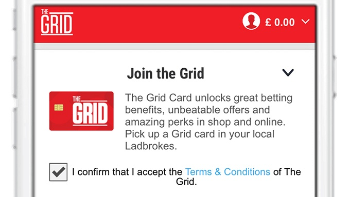 Ladbrokes Rewarding Loyalty with New Grid Experience