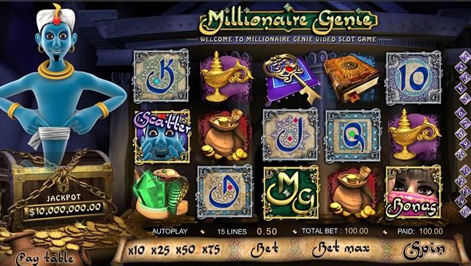 888 Casino Summon Millionaire Genie
