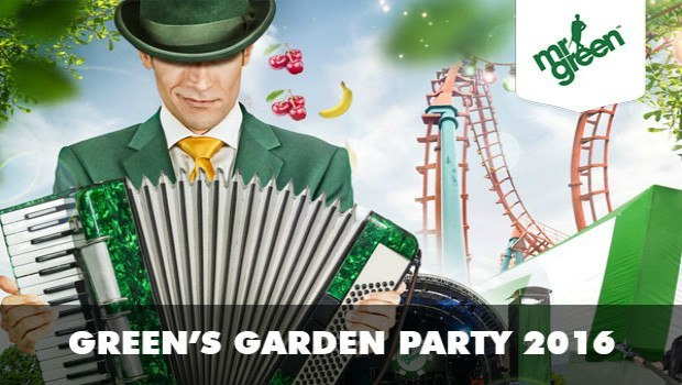Spin in a Win with Mr Green's Garden Party