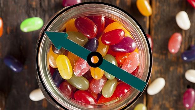 Rouellte mit Jelly Beans