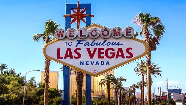 Ortsschild von Las Vegas