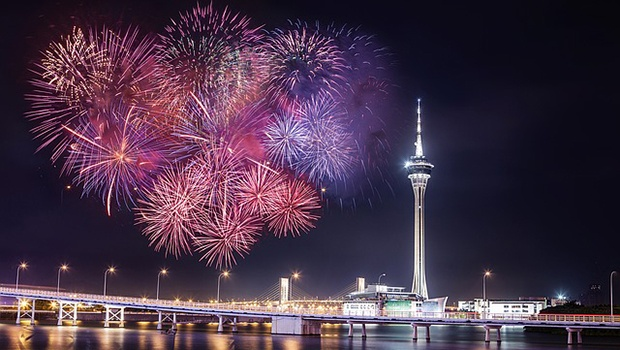 Feuerwerk über Macau