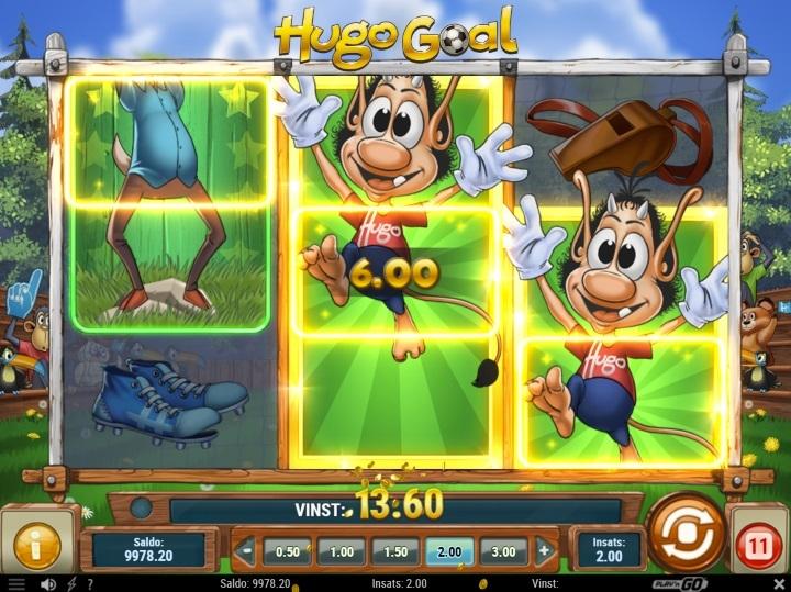 Hugo Goal spelautomat LeoVegas kampanj