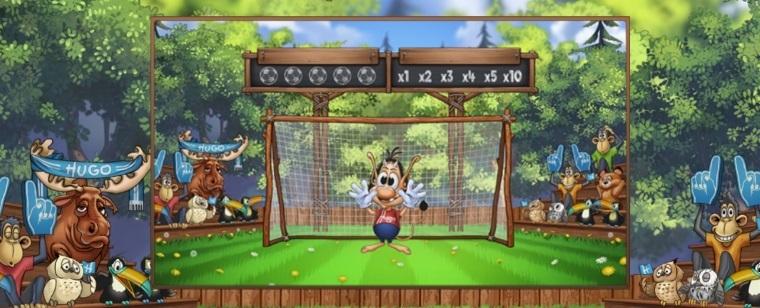 Hugo Goal spelautomat fotbollstema