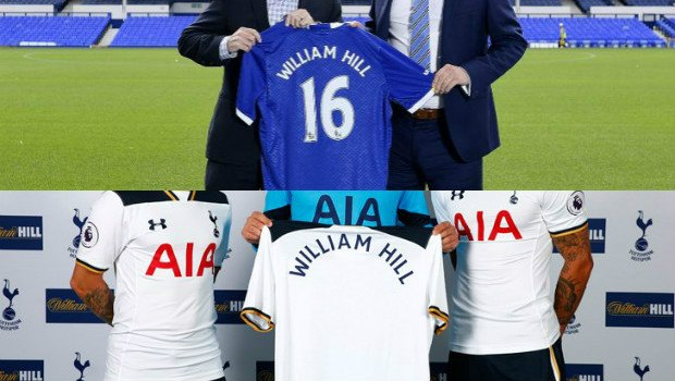 William Hill Set to Become Official Betting Partner of Both the Premier League's Everton FC and Tottenham Hotspur FC