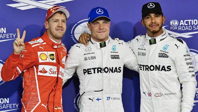Gran premio d'Austria: Bottas davanti a Hamilton, Vettel per