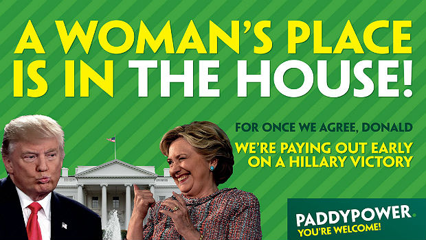 Paddy Power Pays Out Early on Clinton