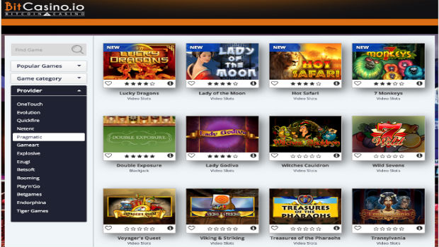 Bitcasino.io Adds 120 New Topnotch Slot Titles