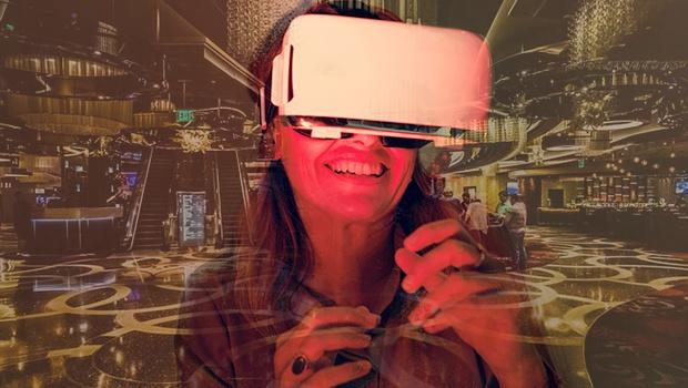 Mujer con gafas VR