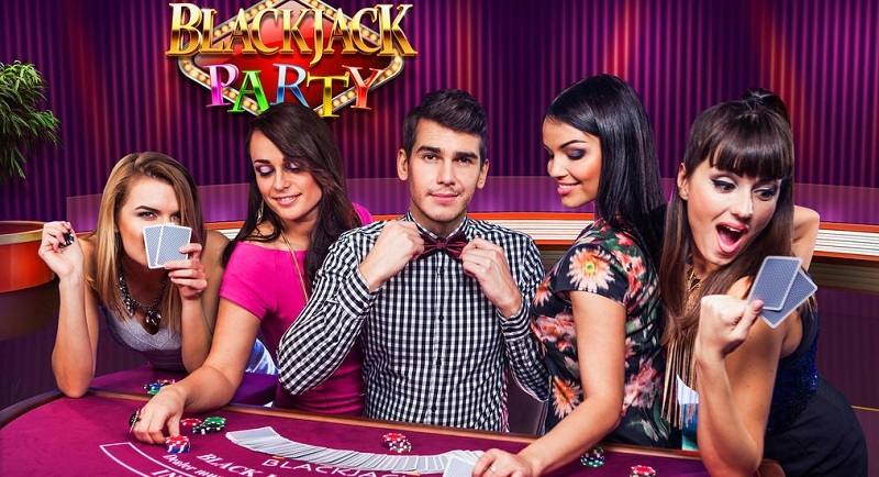 Evolution Gamings Blackjack Party