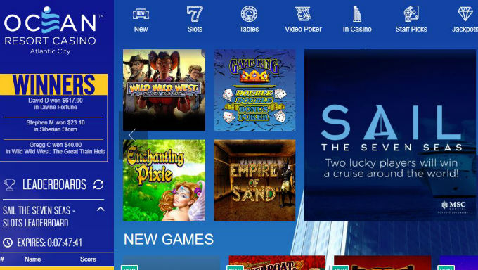 Ocean Resort Launches Online Slot and Table Game Site