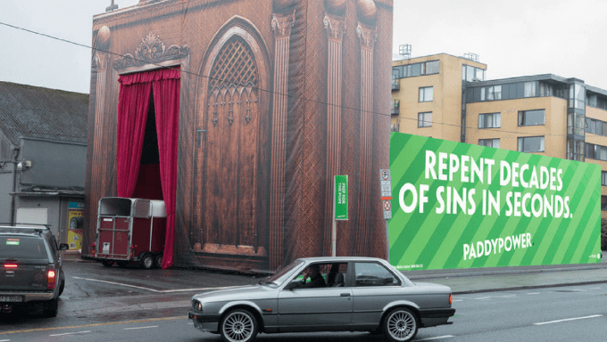 Paddy Power Erects Drive-Thru Confessional Before Papal Trip