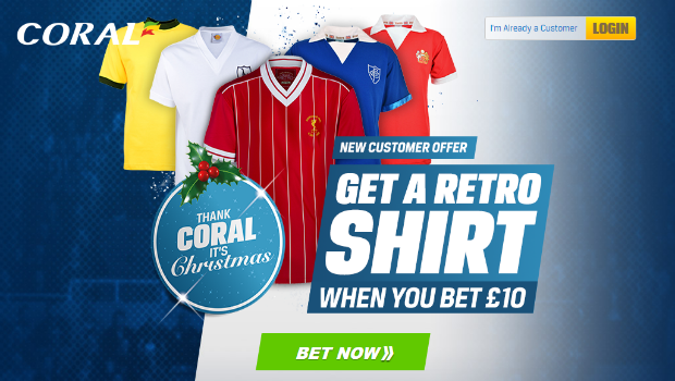 Thank Coral it's Christmas! Get a Free Retro Football Shirt!