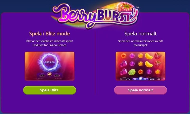 Spela casino snabbare än någonsin med nya Blitz!