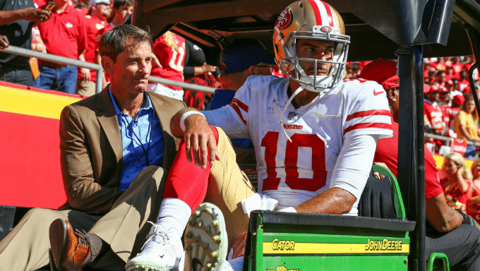 How Jimmy Garoppolo's Injury Impacts 49ers Betting Lines