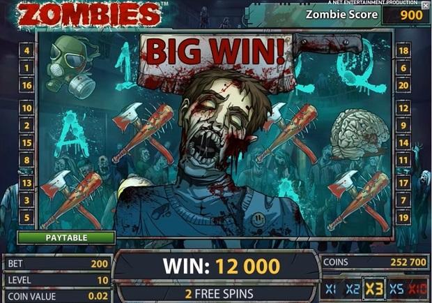 Zombies kolikkopeli