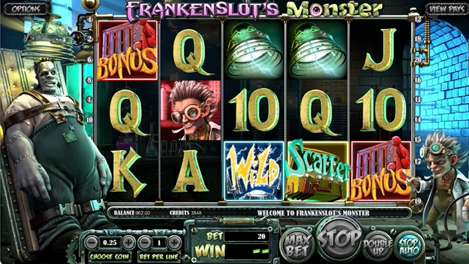 Frankenslot's Monster Slot Game