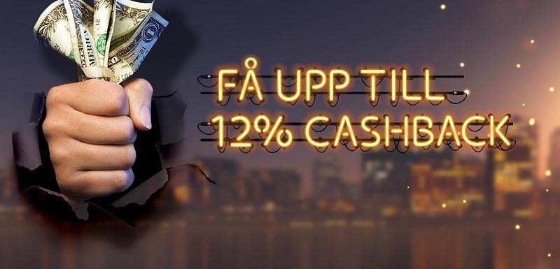 Få 12% cashback och omsättningsfria vinster hos Mobocasino