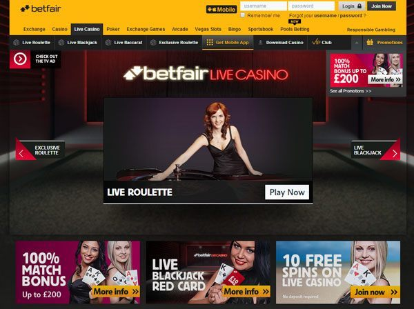 Play Online Roulette with Betfair Casino