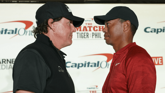 Mickelson Bets Woods $200k - 'The Match' To Have Live Odds