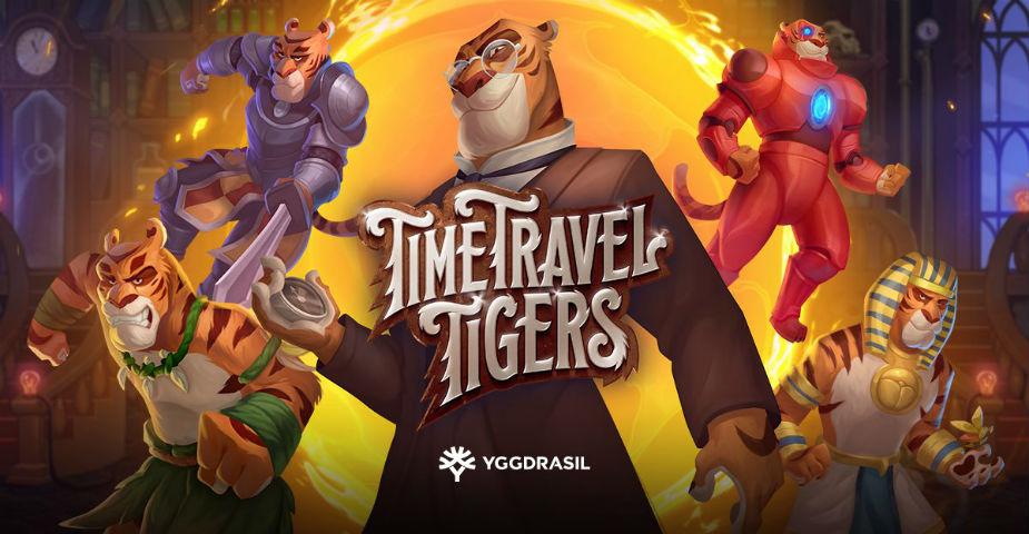 Yggdrasil lanserar den nya spelautomaten Time Travel Tigers