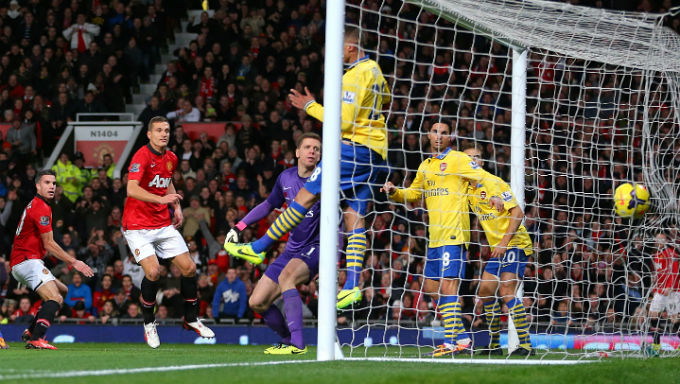Robin Van Persie Scores Against Arsenal