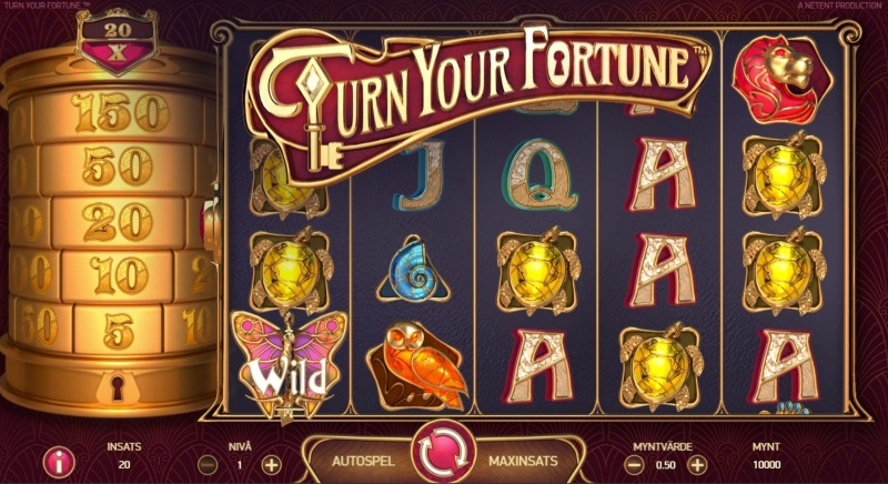 Spelnyhet: Turn Your Fortune videoslot från NetEnt