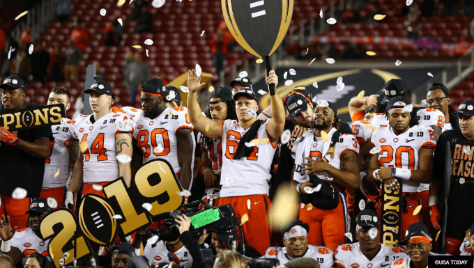 Here are Every D-1 Football Team's 2020 Championship Odds