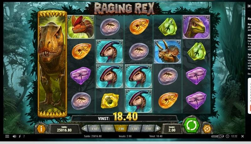 Spelnyhet: Raging Rex från Play'n GO